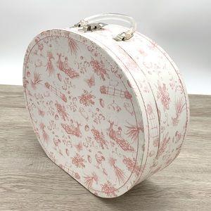 Charming Decorative Storage Suitcase Vintage Print